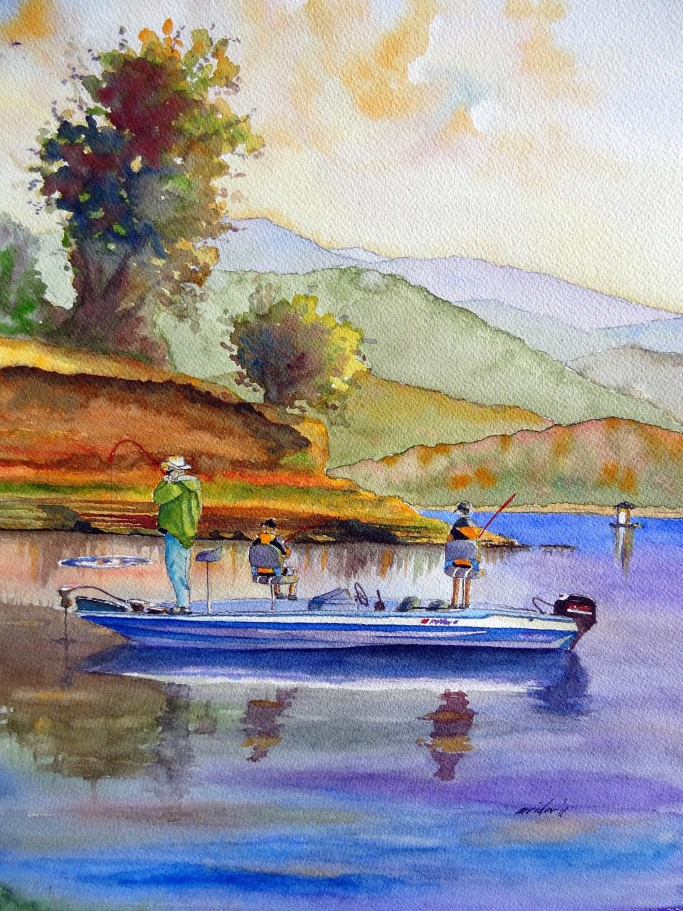 Lake Cachuma Fishermen