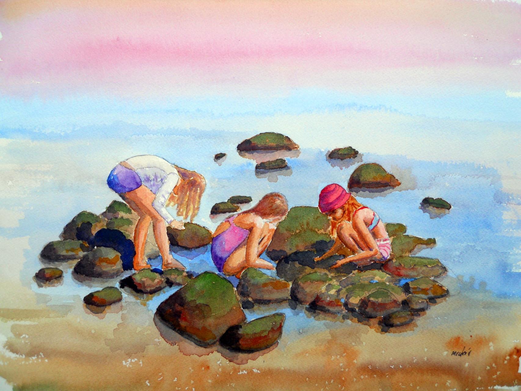 Kids at Miramar Beach