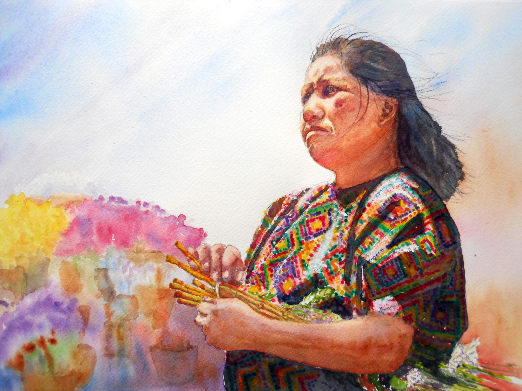 Guatamalan Flower Lady