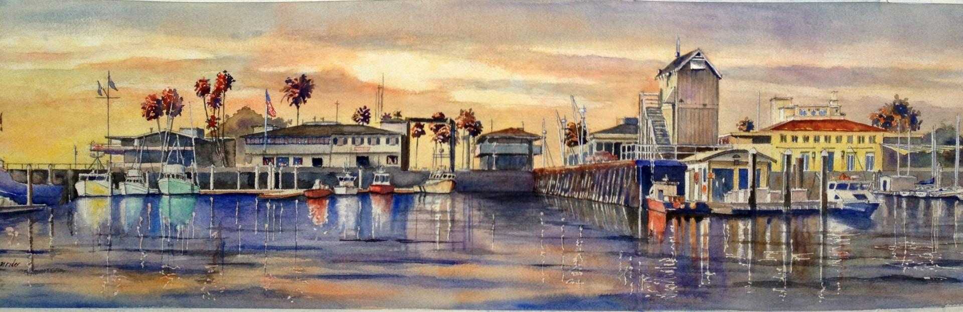 Santa Barbara Harbor Sunset