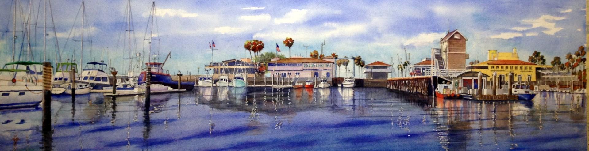 Santa Barbara Harbor Glass