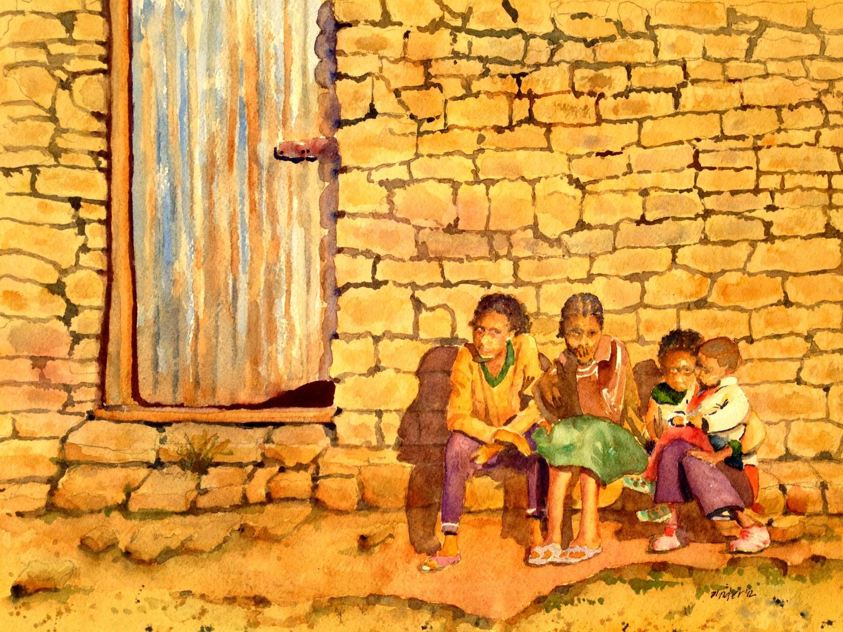 Ethiopian Kids Just Watching